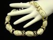 Vintage Coro Milk Glass Thermoset Choker with Gold Tone