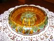 Vintage Van Briggle Honey Gold Flower Bowl with Frog
