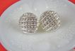 Pretty Rhodium Plated Rhinestone Art Deco Style Earrings
