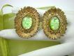 Elizabeth MORREY Green Confetti Glass Earrings