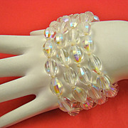 SALE Erwin Pearl Four Strand Shimmering Glass Bead Bracelet