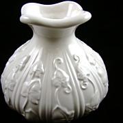 Willfred by Sadek Glossy White Squash Vase