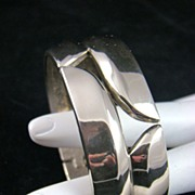 SALE HALF PRICE Polished Silvertone Clamper Bracelet