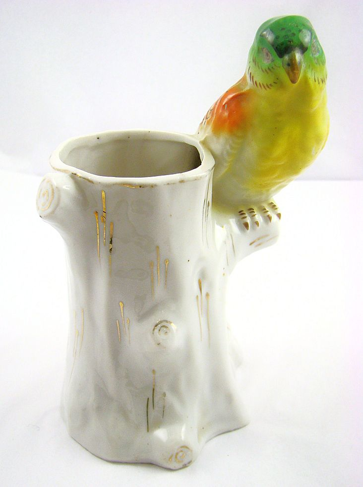 Gold Castle Hand Painted Parrot Planter Made in Japan 1950s