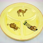 "Rare 1920s Edwin M. Knowles ""Roma"" Child's Divided Plate"