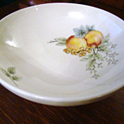 Discontinued 1960s Syracuse Carefree China 8&quot; Round Vegetable~Wayside~Mint