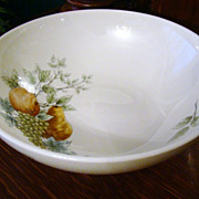 Discontinued 1960s Syracuse Carefree China 9 5/8&quot; Round Vegetable~Wayside~Mint