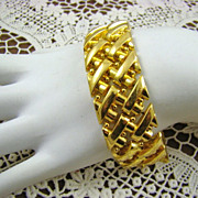 Grosse Germany 1969 Gold Plated Basket Weave Bracelet