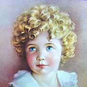Vintage Lithograph Entitled &quot;Goldilocks&quot; by Annie Benson Muller