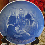 "Bing & Grondahl Porcelain Christmas Plate ~ ""Christmas at Home"" ~ 1971"