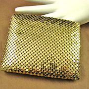 Bi-Fold Gold Tone Mesh Wallet by Studio Imports NY