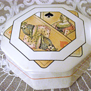 Villeroy & Boch Trinket Box ~ Playing Card Motif ~ Rare