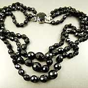 Stunning Austrian Black Crystal Necklace