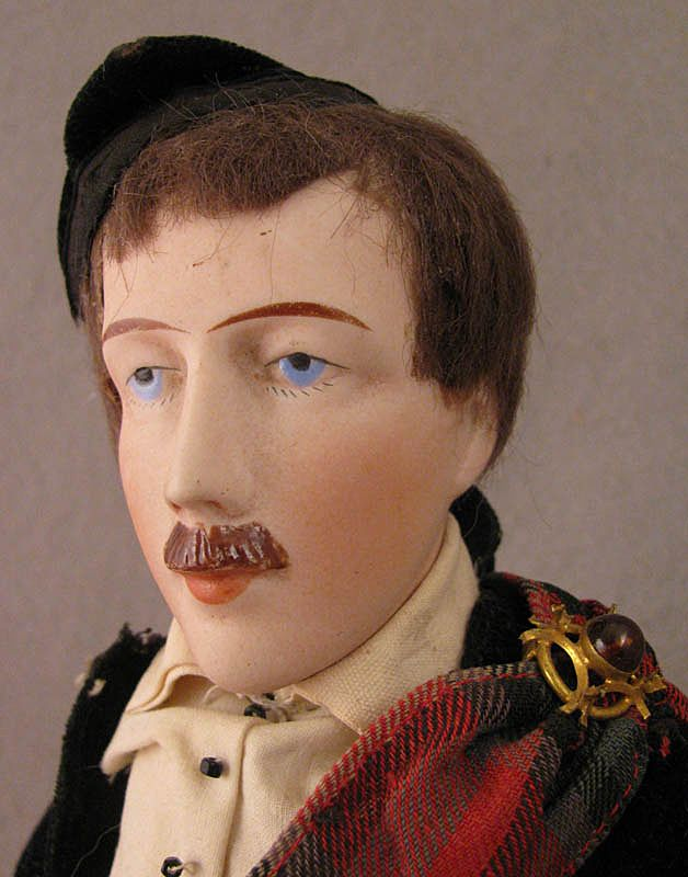 "12"" Damerval & Laffranchy Male Doll in Original Scottish Costume"
