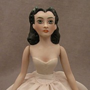 SALE 1976 UFDC Scarlett O'Hara Bisque Half Doll by Beverly Walters