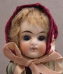 "1880s German Goebel 9"" Bisque Doll w/ Factory Original Clothing"