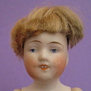 "SALE 5"" Kestner 150 All Bisque Child Doll w/ Molded Open Mouth & Teeth"