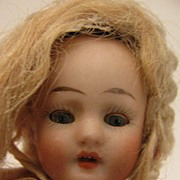 "SALE 5.5"" All Bisque Doll w/ Sleep Eyes & Original Clothing"