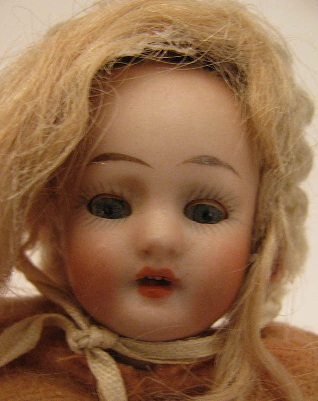 5.5&quot; All Bisque Doll w/ Sleep Eyes & Original Clothing