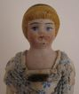 "c. 1900 All Original 4.25"" Bisque Doll House Doll"