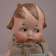 "SALE 3"" Side Glance Eyes All Bisque Doll"