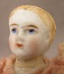 c.1875 Blond 4&quot; All Bisque Doll w/ Alice Hair Style