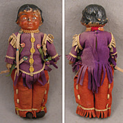 "SALE 19-teens 14"" Composition Doll as American Indian, All Original"