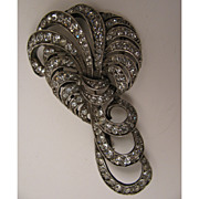 1920s-30s French Rhinestone Bow Brooch