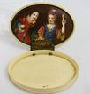 1725 Continental IVORY PIQUE Patch Snuff Box w/ Miniature Portrait