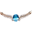 14k Topaz Diamond Necklace - Stunningly Beautiful & appraised over $4000!