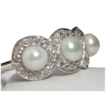 RARE TIFFANY Antique Edwardian Platinum Pearl & Diamond Ring
