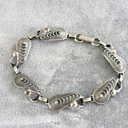 Signed Filigree Bracelet Sterling Silver Vintage