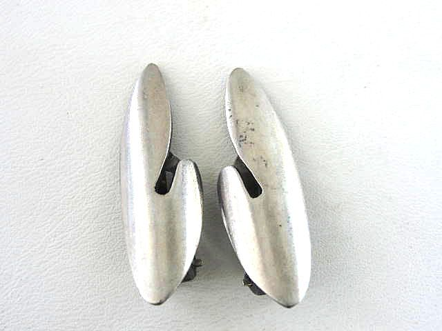 E. Dragsted Modernist Earrings Sterling Silver Vintage