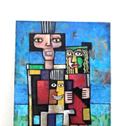 LACKOVIC Modern Family Signed Original Painting
