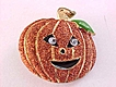 Halloween Pumpkin Pin Googly Eyes Glitter Enamel