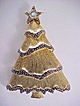 Christmas Tree Pin Signed  Two Tone