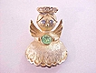 Sweet Angel Pin Signed ULTRA Rhinestones Vintage