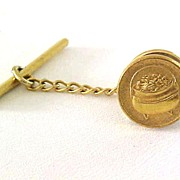 Pot of Gold Tie Tac Mechanical Back Vintage