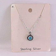 Child's Turquoise Necklace Sterling Vintage NOC Navajo