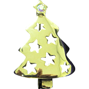 Vintage Christmas tree pin with AB star
