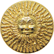 Vintage Original by Robert smiling sun belt buckle