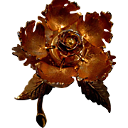 Vintage Warner mechanical flower brooch