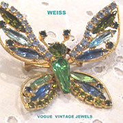 Vintage Weiss trembler butterfly pin