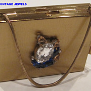 Vintage gold tone  carry all purse