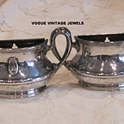 Vintage wall pocket silver