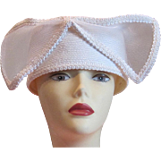 Vintage white bridal or cocktail hat
