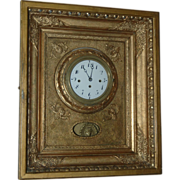 SALE Antique Austrian, Grand Sonnerie Chime, 59 hours Picture Frame Wall Clock
