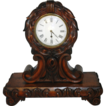 Antique English, Carved Mahogany, Fusee Movement,Mantel Clock