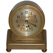C.1928 Chelsea Clock Co.,&quot; Concord&quot; 8 day Miniature Desk Clock