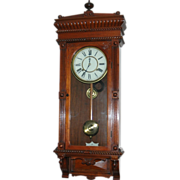 Antique American, Waterbury Clock Co. &quot;Leeds&quot; Model Wall Clock
